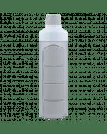 YOS Bottle - waterfles met pillendoos - 4 vaks - grijs - 8715195650610