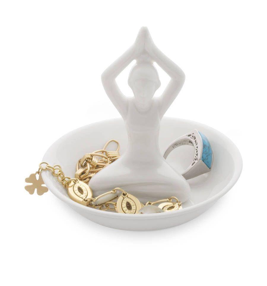 Afbeelding van Balvi ringhouder op schaaltje Yoga wit