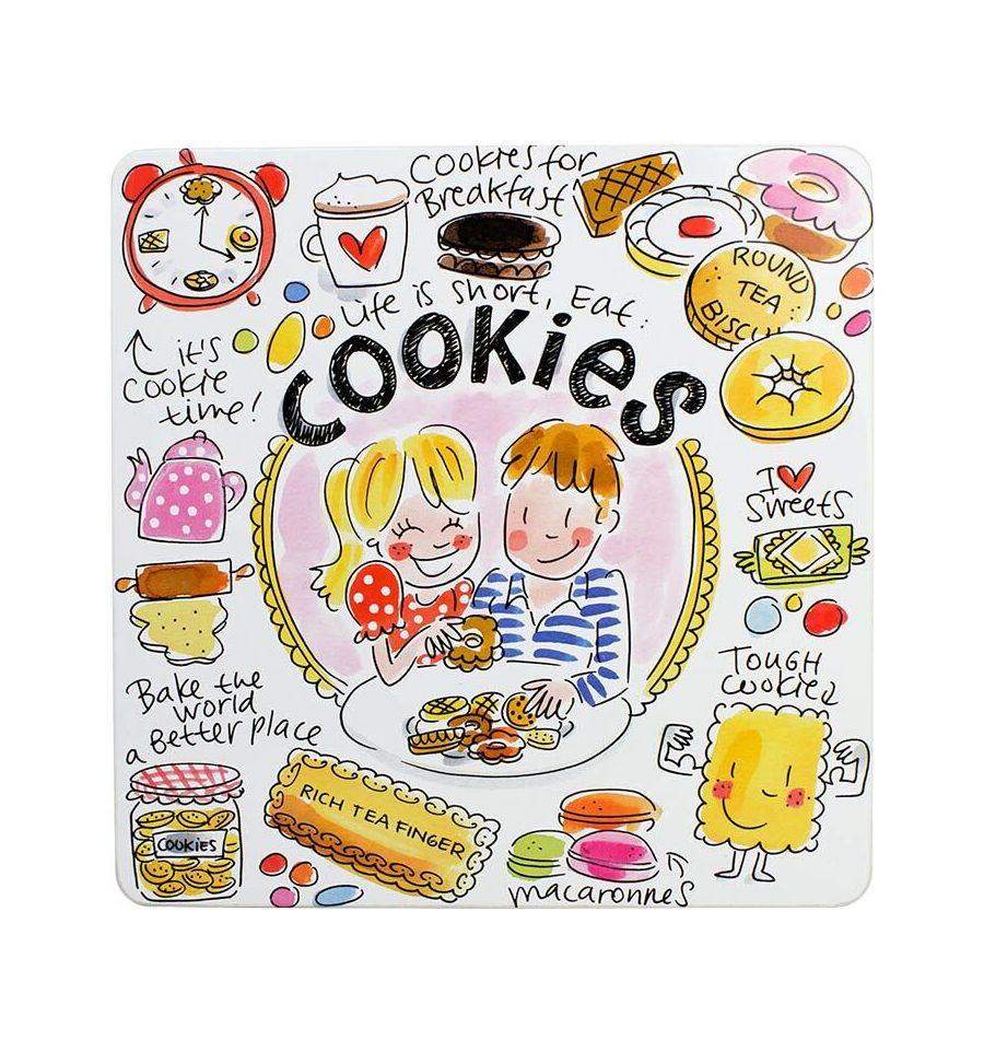 Afbeelding van Blond Amsterdam blik vierkant cookies Even bijkletsen