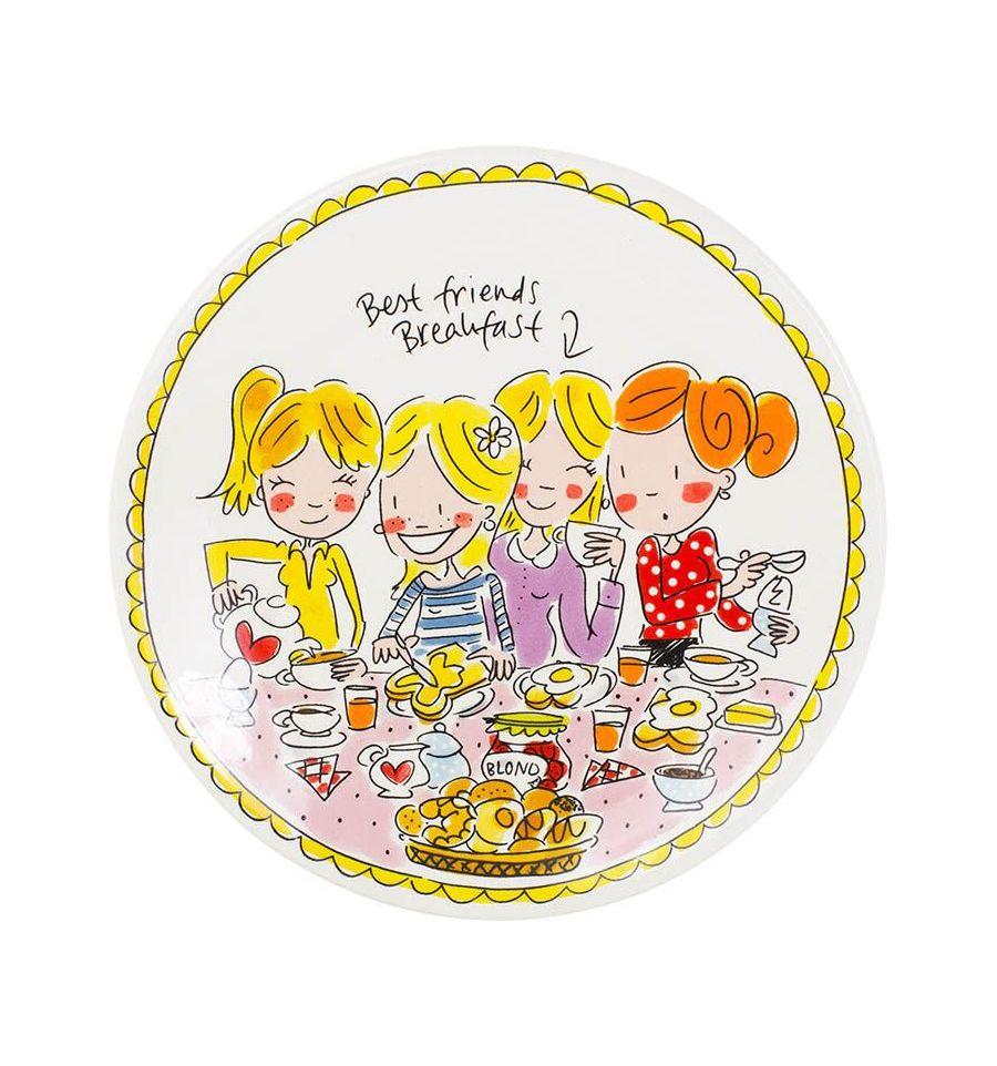 Afbeelding van Blond Amsterdam bord 22 cm girls Even bijkletsen