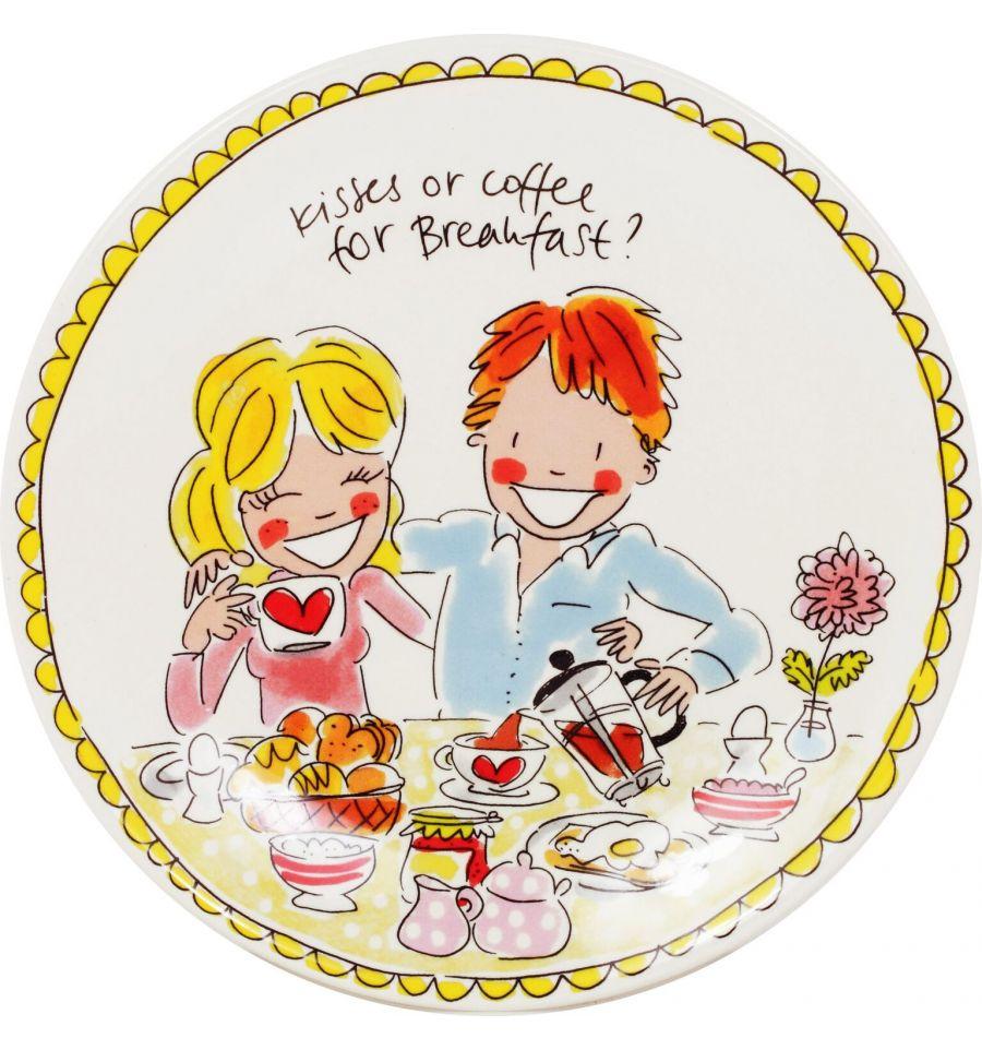 Afbeelding van Blond Amsterdam bord 22 cm love Even bijkletsen