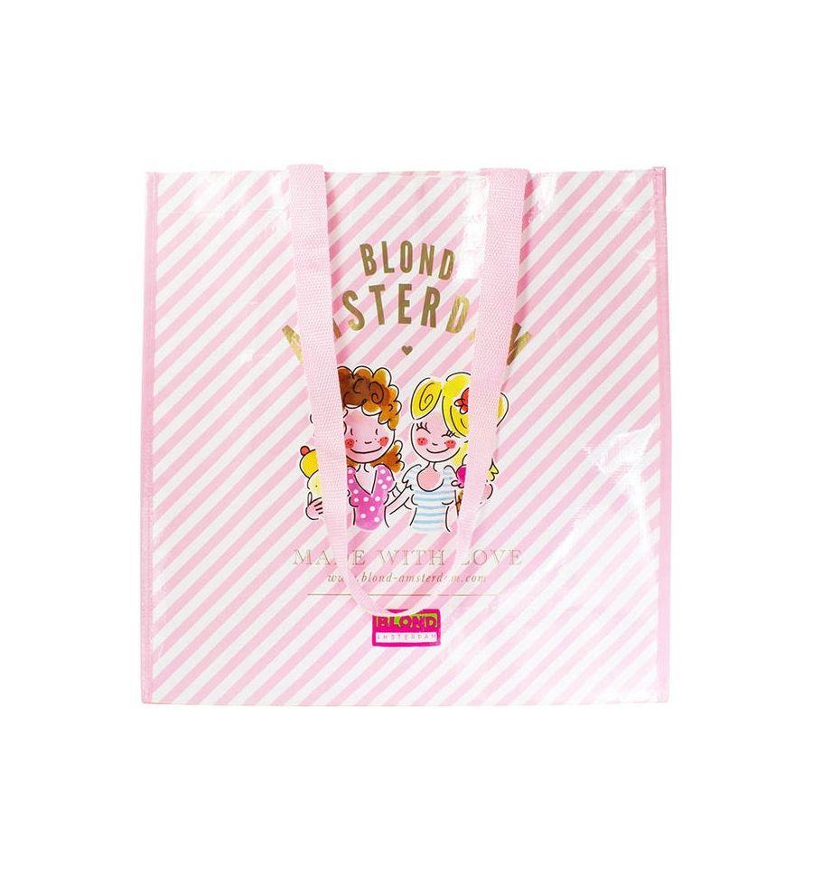 Afbeelding van Blond Amsterdam shopper pink stripe Specials