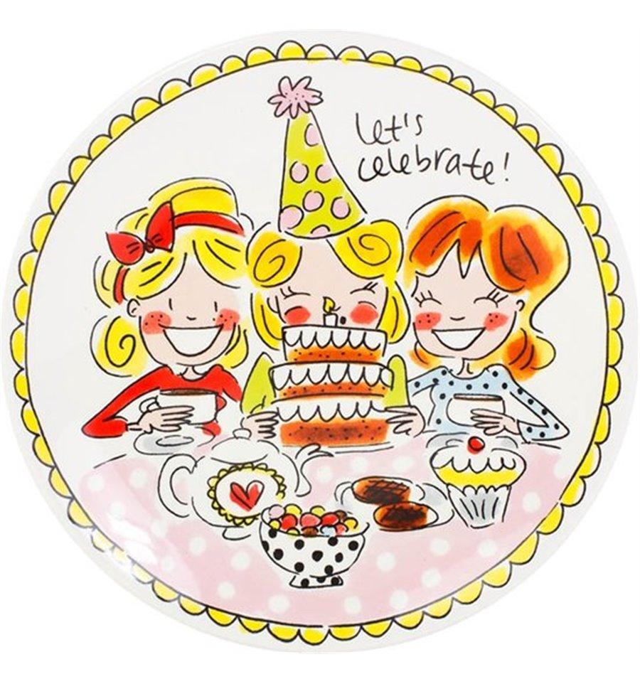 Afbeelding van Blond Amsterdam bord 18 cm girls Even bijkletsen