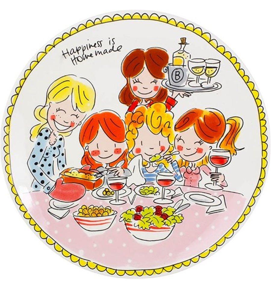 Afbeelding van Blond Amsterdam bord 26 cm girls Even bijkletsen