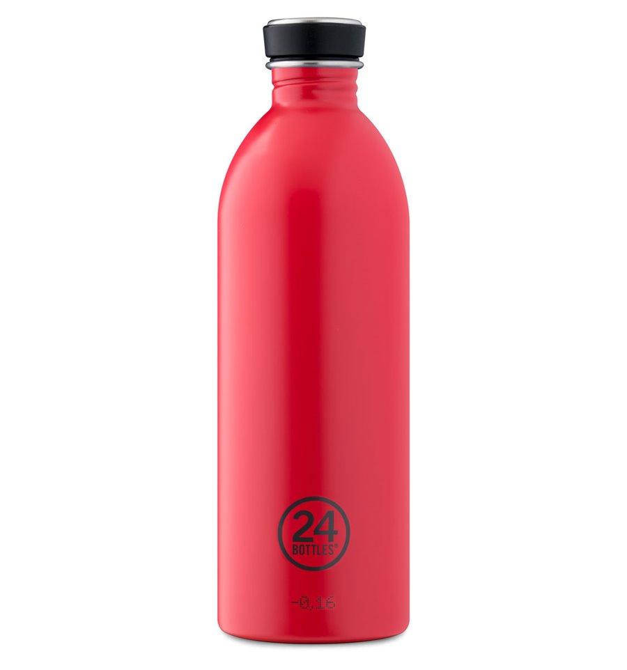 Afbeelding van 24Bottles Drinkfles Urban Bottle Hot Red 1 liter